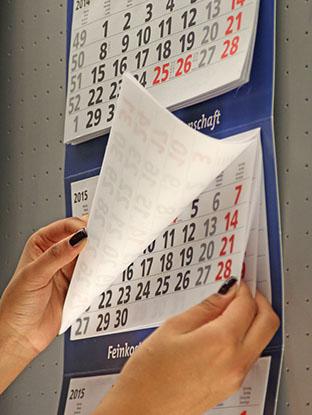 Drei-Monatskalender als Bürokalender