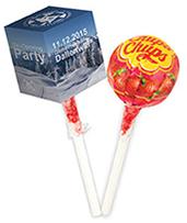 Lolly-Box mit Werbeaufdruck
