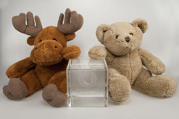 Kuscheltier Werbeplüsch mit Auszeichnung Promotional Gift Award