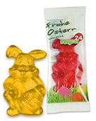 Oster Werbung: Hase aus Fruchtgummi