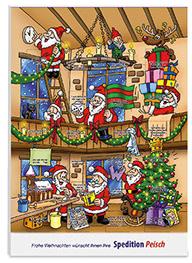 Wand Adventskalender mit Siebdruck