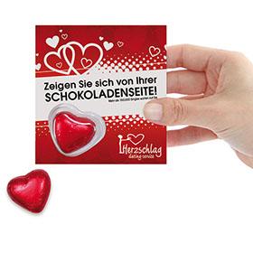 Valentinstag Werbemittel: Ein Herz zum Essen
