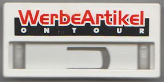 Werbemittel: Büroklammer aus Kunstsoff aus den 90er jahren