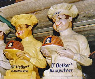 Werbefiguren und Aufsteller - Werbeartikel der 70er Jahre