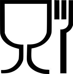 Symbol für Lebensmittelkontaktl